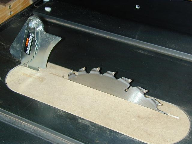 Jet contractors saw Table saw splitter
